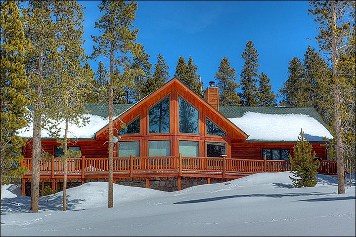The Lovely Exterior View Surrounded by Snow Capped Trees - Nestled Atop Gibson Hill  - Beautiful Mountain Retreat (13264) - Breckenridge - rentals