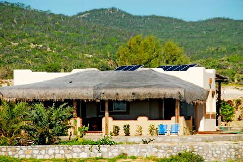 The casita sits at the top of a breeze-catching knoll at the west end of the beachfront property. - Casas del Amanecer - Charming Beach View Bungalow - Los Cabos - rentals