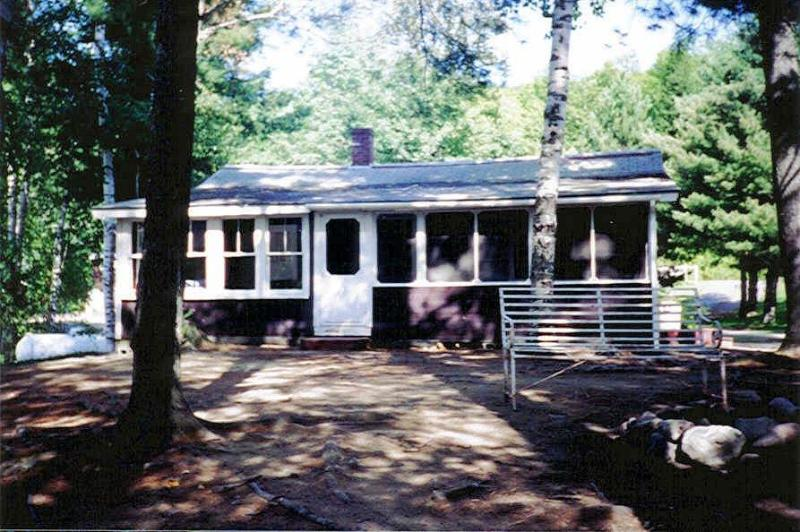 Cabin from the front - Loon Cabin, Wyman Lake, Maine - 2 Bedrooms - Moscow - rentals