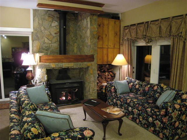 Large stone fireplace and living room - Beautiful, Large Lodge 2 miles from ski slopes! - Beech Mountain - rentals
