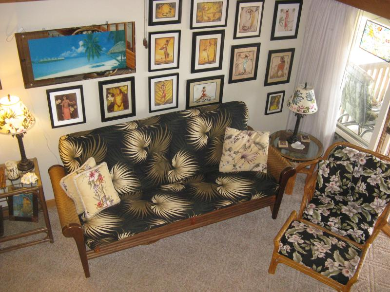 Living Room - Beautiful Ocean Front Condo in Paradise.  KepuhiBeach, Ask about our Condo & Car Combo - Maunaloa - rentals