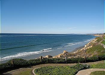 Looking out from the bluff - Premiere Solana Beach Bluff Condo in SeascapeSur! - Solana Beach - rentals