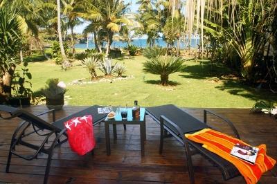 Garden front sea - Villa Ibiscus,  Come to the Paradise, Front sea! - Santa Barbara de Samana - rentals