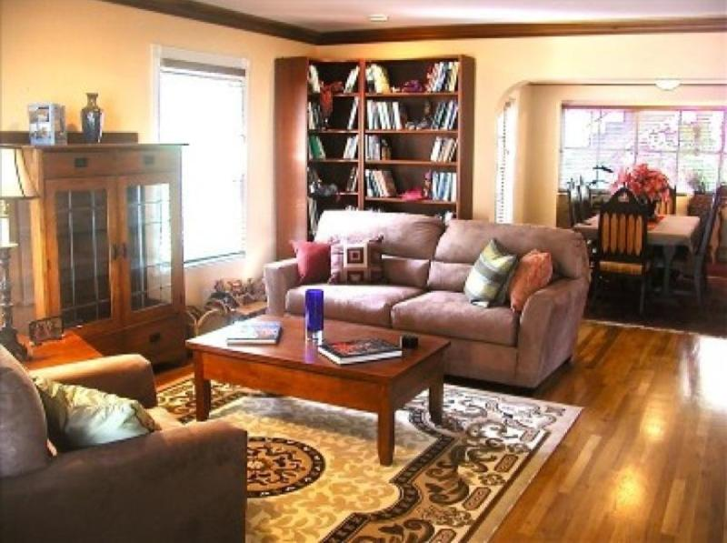 Our Spacious Living Room, & Dining Room Beyond - Stunning Craftsman Home Close to Beach-Free Bikes! - Santa Monica - rentals