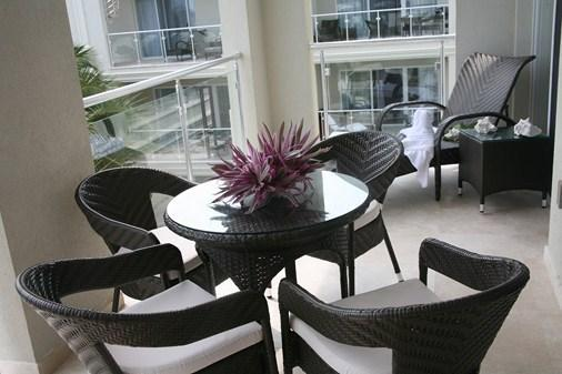 Fully furnished lower level balcony - Luxury 2 BDRM/2.5 Bath. penthouse, Atrium Resort - Providenciales - rentals