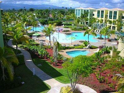 Pool Area - Aquatika Beach Condo! 1st Floor Beach Front Apt - Loiza - rentals