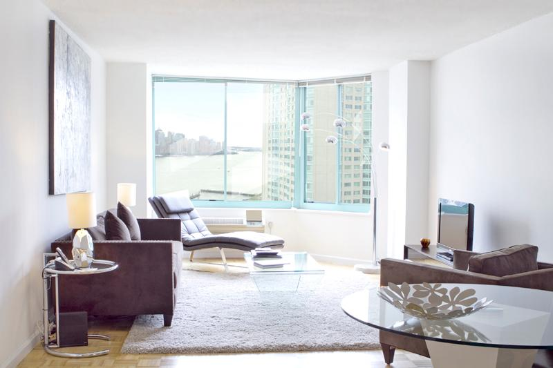 Living area with a view ! - Sky City at Waterfront North- 1-bedroom - Jersey City - rentals