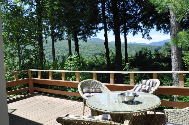 sundeck view - 3/3 luxury townhome at Topnotch Resort, Stowe  VT - Stowe - rentals