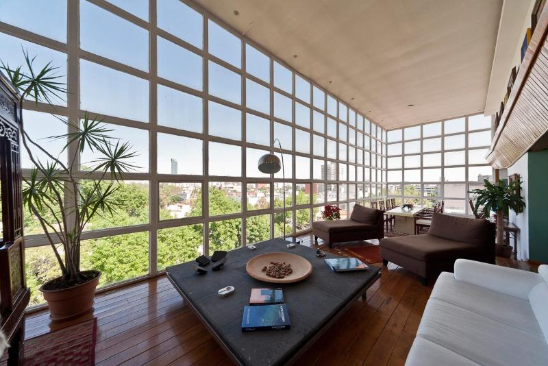 Living Room with a view - Big Penthouse, Unmatched View. Park of Chapultepec - Mexico City - rentals