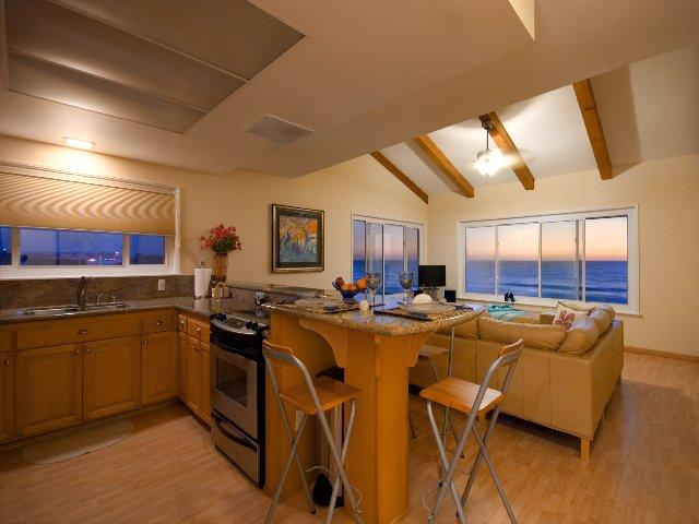 Living, Dining, Kitchen Areas -  - The Mermaid's Penthouse - San Diego - rentals