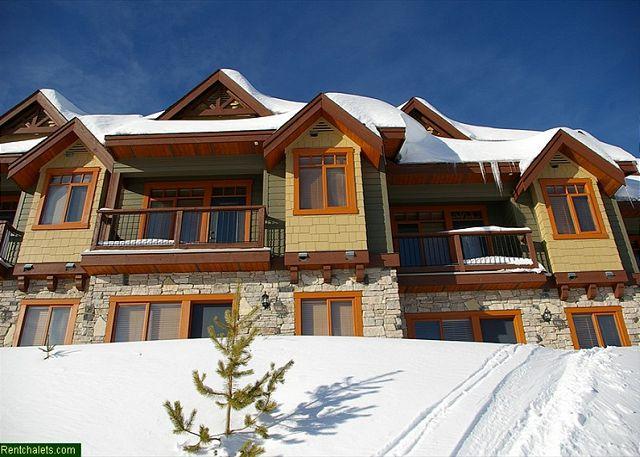 Blacksmith Lodge 7 Back entrance and groomed ski run, Big White, - Blacksmith 7 Lower Village Location Sleeps 9 - Big White - rentals