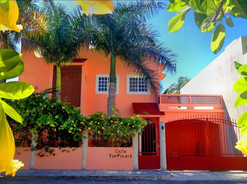 Casa Tropicale front view - Casa Tropicale w/ Pool  Residential Area In Town - Cozumel - rentals