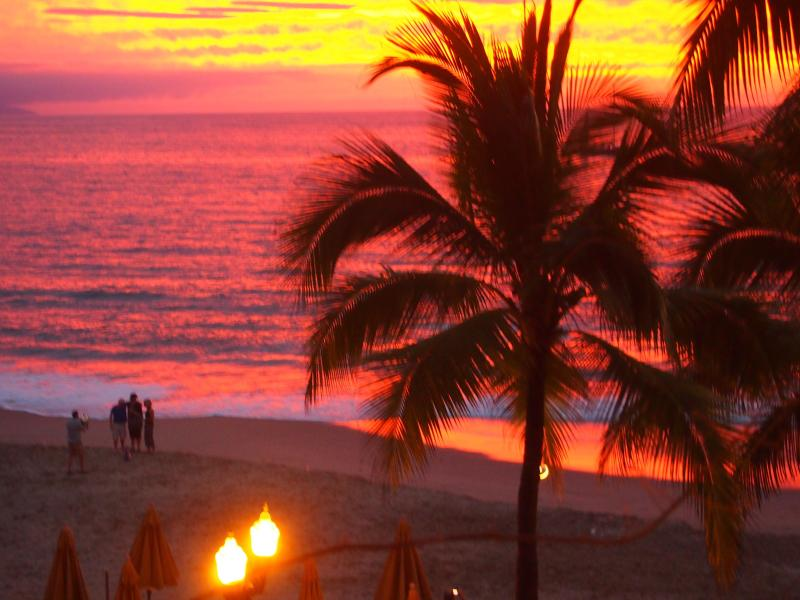 Yes, we often see sunsets just like this from the terrace - Spectacular View Romantic Beachfront Condo - Puerto Vallarta - rentals