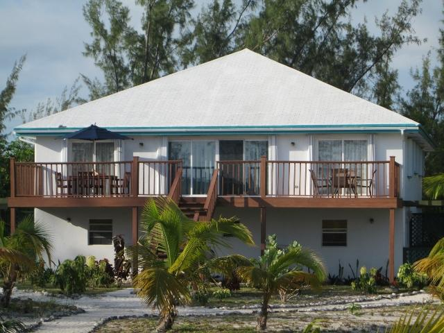 View of Sandy Palms from the beach - BEST BEACH APARTMENT Sleeps 8+ - Great Exuma - rentals