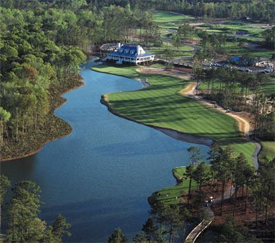 True Blue Golf Course Community Aerial Shot - Eagle & Birdie: Corner, End Unit on True Blue Golf - Pawleys Island - rentals