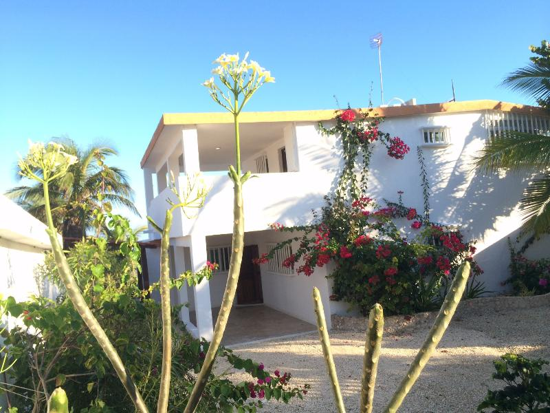 View of house from beach road - Affordable Family Beach Front House - Chelem, Yuc - Chelem - rentals