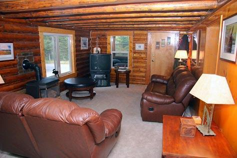 Main Living Room, Direct TV, flatscreen - Vacation Cabin Home New Spring Rates - low as $199 - West Yellowstone - rentals