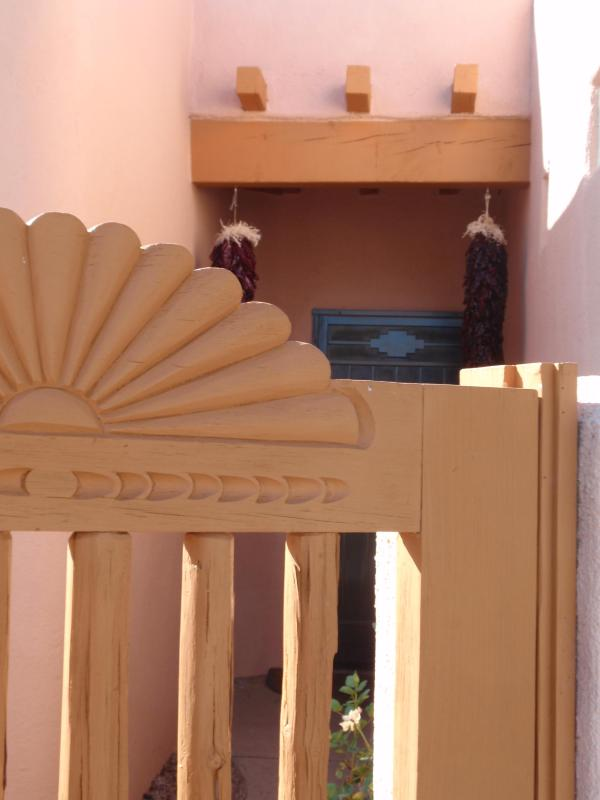 A View through the Courtyard Gate - Pueblo- Style Casita- A True Southwest Charm - Albuquerque - rentals