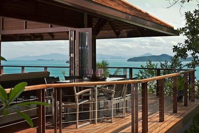 Living Room/Deck - Sunset Rock, 3 Bed, Pool, Magnificant Sea Views - Koh Samui - rentals