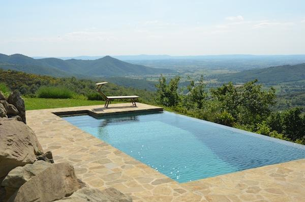 Swimmingpool - Typical house with private pool and stunning view - Cortona - rentals