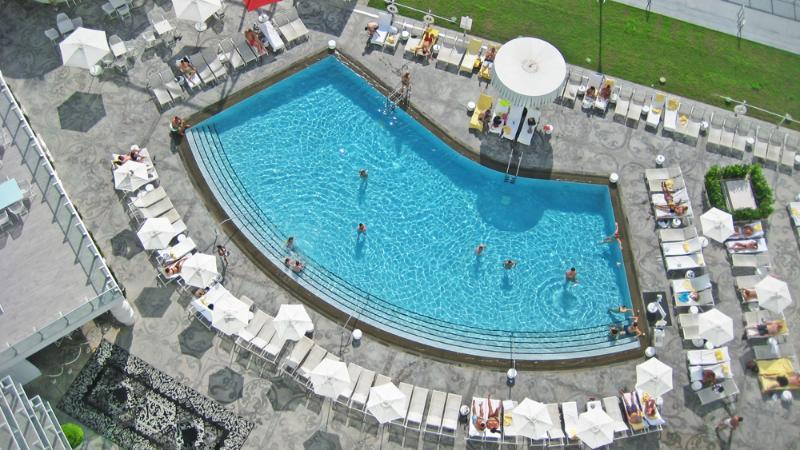 Your 15th floor balcony View looking down! - Deluxe  Luxury Bay view balcony Condos - Miami Beach - rentals