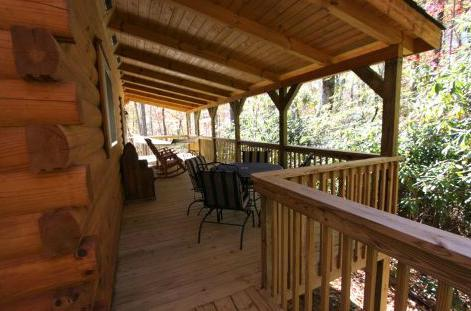10 x 40 porch with hammock and dining area - Pansy's Place-Nap in the hammock! Private! - Sapphire - rentals