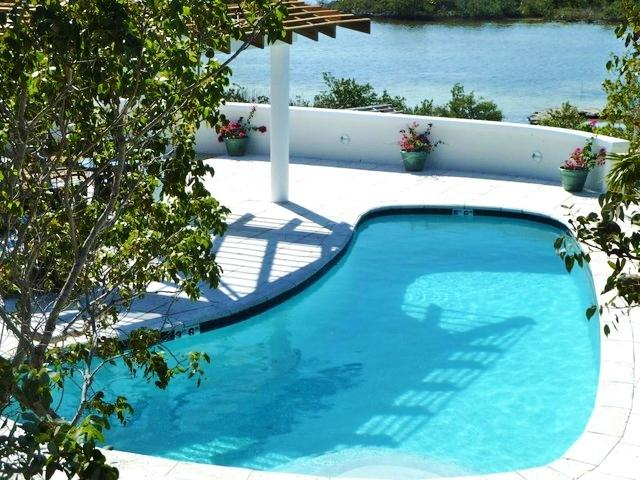 Serenity Pointe full sized pool with beautiful water front beyond - SERENITY POINTE  -DISCOUNTED SUMMER RATES! - Turks and Caicos - rentals