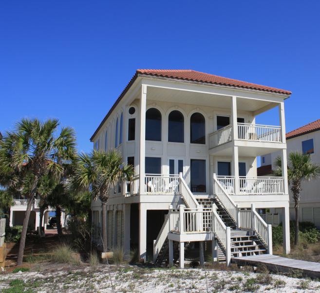 Beachfront! 2 Story Great Room! Pool/Hot Tub/Bar! - Image 1 - Saint George Island - rentals