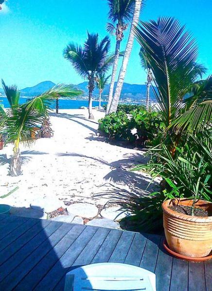 view from terrace deck downstairs - Sunrise Beach Duplex By the Ocean - Baie Nettle - rentals