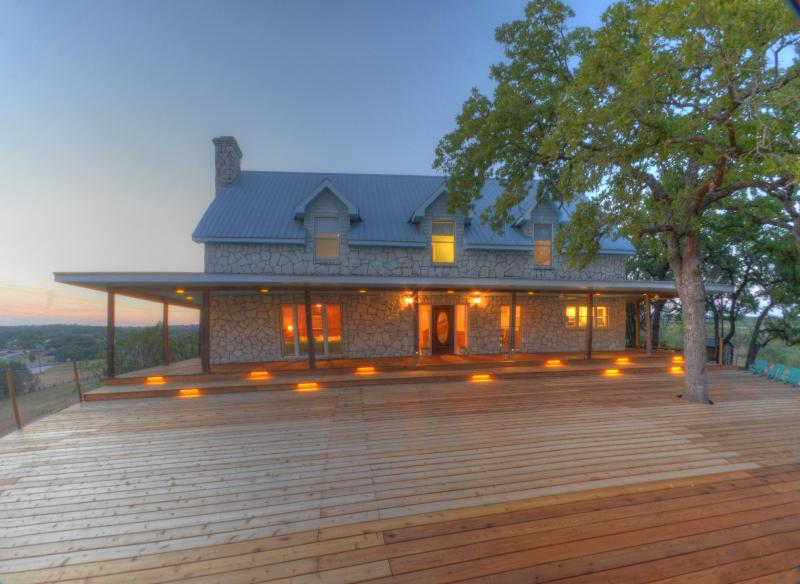 Front of house from the deck - Heart of Texas Ranch - Isaac Millsap House - Marble Falls - rentals
