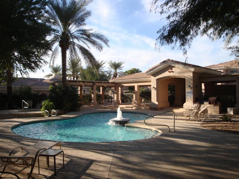 View from the lovely pool area. - Upscale Central Scottsdale Ground Floor Condo - Scottsdale - rentals