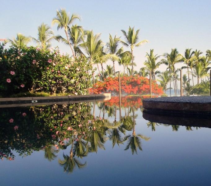 Our gorgeous pool seems to spill into the ocean - Ah PARADISE Kahalu'u Beach/Kona Condo Snorkel,Surf - Kailua-Kona - rentals