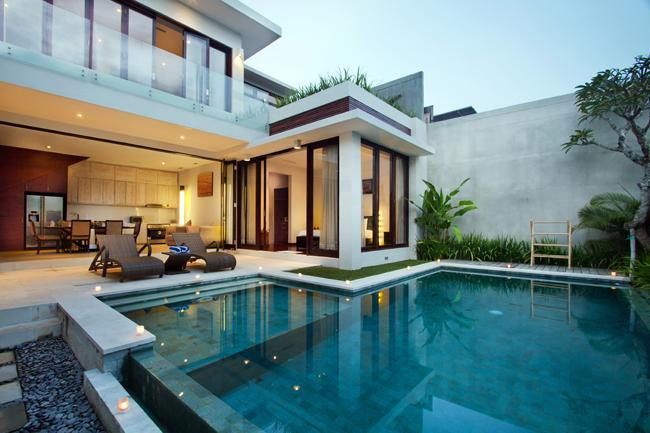 View from the entrance. - Villa Portsea - 2 Bedroom Pool Villa in Seminyak - Seminyak - rentals