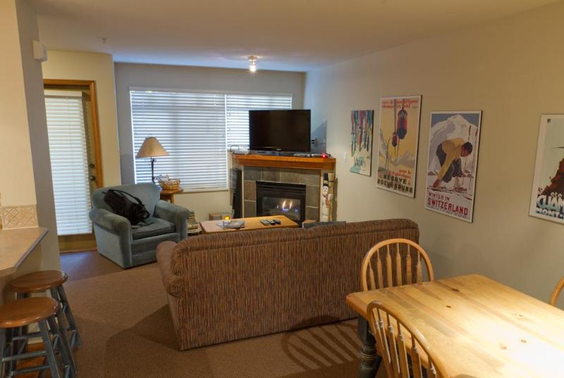 Features gas fireplace, large flat screen TV, patio - Sunpath 21 a 2 bdrm condo in Whistler - Whistler - rentals