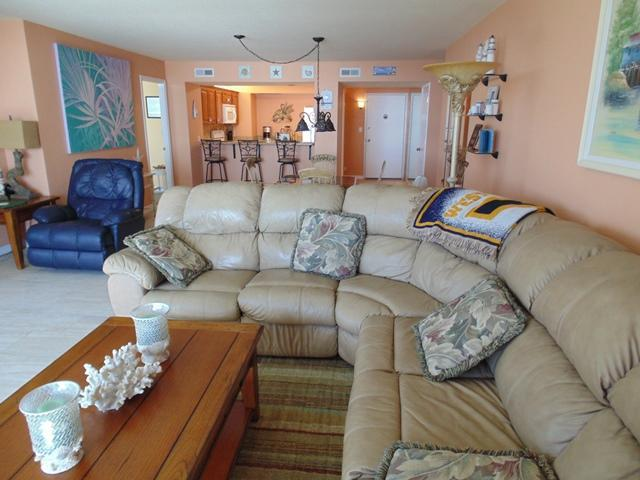 Living room (alternative room). - May/June $pecials -Horizons #303- Oceanfront - Daytona Beach - rentals