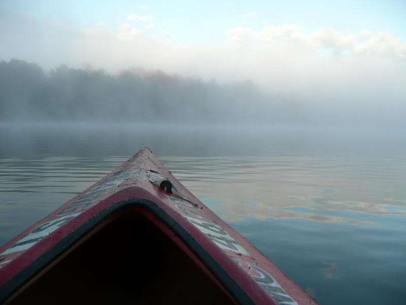 An early morning kayak ride through the mist - Plan for fall at Modern Idyllic, Updated Lake Home - Central Lake - rentals