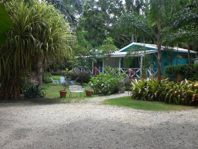 View from entrance and parking area. - Tropic Cabanas - A Beautiful Caribbean Dream - Rincon - rentals