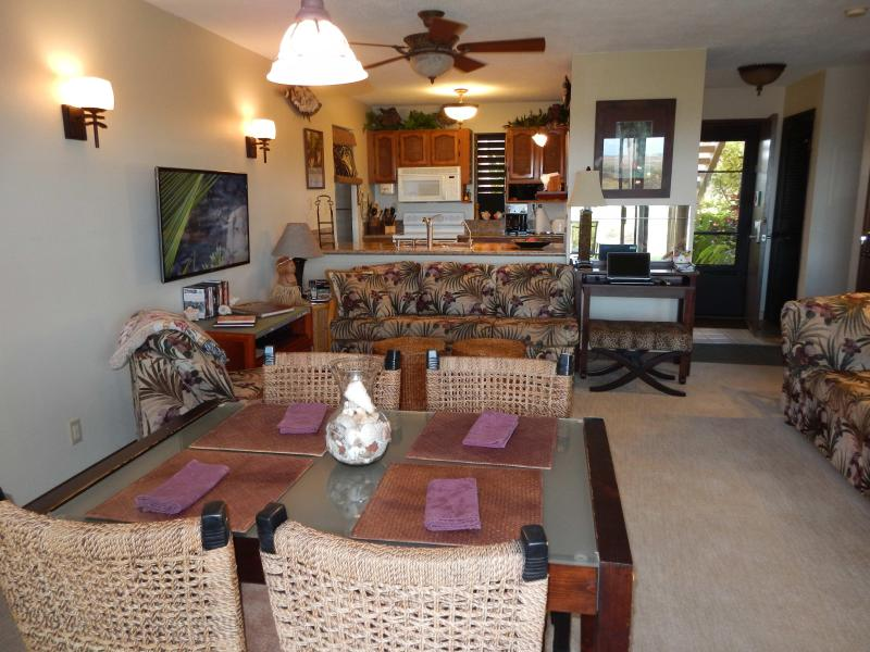 Lots of comfortable seating, most with an ocean view.  46