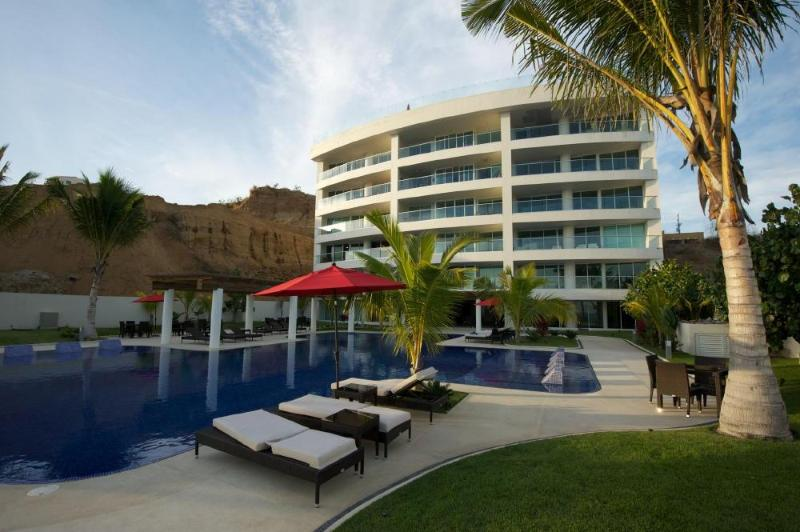 Quiet and luxurious poolside lounging - Brand New Luxury Beachfront Condo at Barlovento - Bucerias - rentals