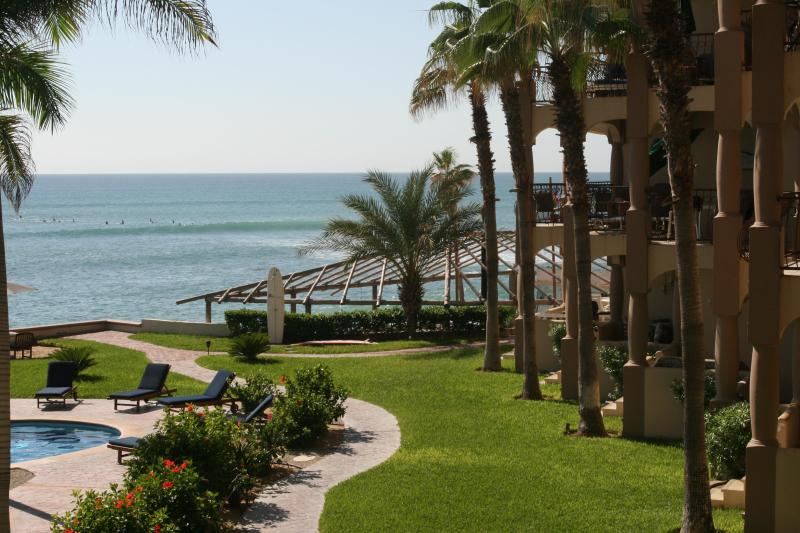 View from wrap around patio. Looking at Las Rocas surf break - Luxurious 3 bed. BEACH FRONT condo, San Jose Cabo - San Jose Del Cabo - rentals