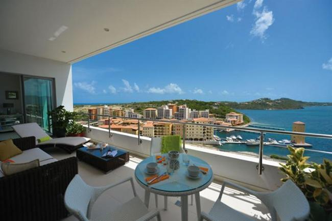 Moonrise at Blue Residence, Cupecoy, Saint Maarten - Pool, 180 Degree View Of Ocean, Beach And Simps - Image 1 - Cupecoy - rentals