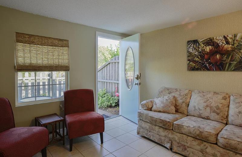 Living room - Funky Flamingo Cottage - 1/1 pets ok free Wifi - Gulfport - rentals