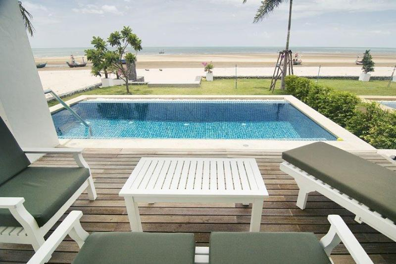 House Directly On The Beach With Private Pool - Image 1 - Kui Buri - rentals