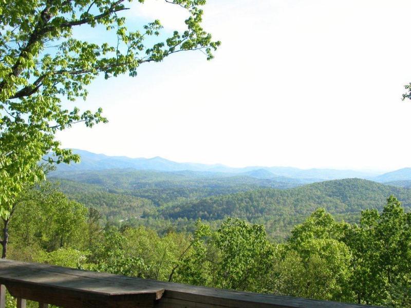 """Summer View from back deck - Cloud 9 """"Spectacular Mountain View"""" Helen GA - Helen - rentals"""