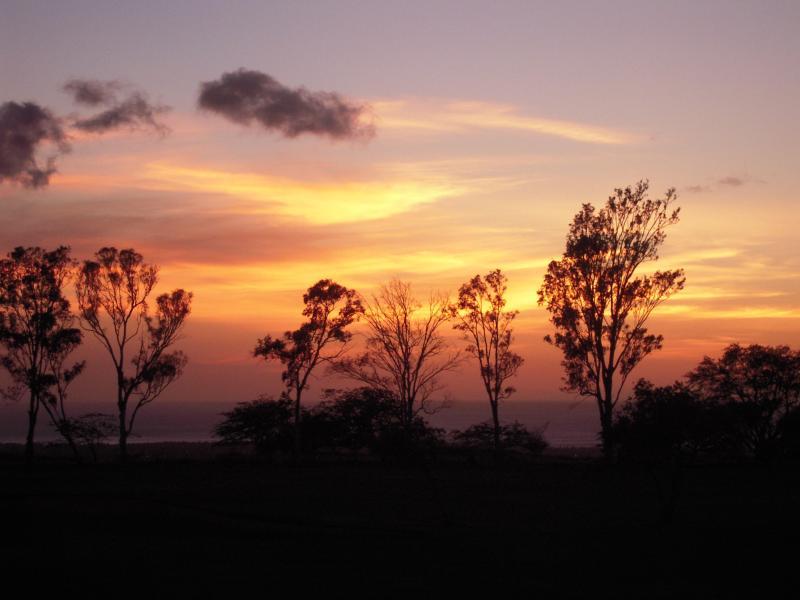 evening sunset skies from the lanai - Waikoloa Double Bogey Villa on 9th Fairway E201 - Waikoloa - rentals