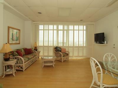 Living room toward boardwalk - Weekly Rentals Only- Oceanfront-ADA Compliant - Rehoboth Beach - rentals