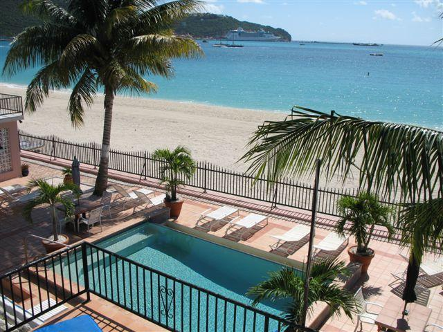 A beautiful view from the deck - Beautiful beachfront at The Villas On Great Bay - Philipsburg - rentals