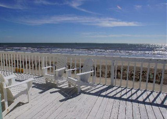"""""""Brooke Shores"""" A beautiful beachfront home with a spacious deck! - Image 1 - Galveston - rentals"""