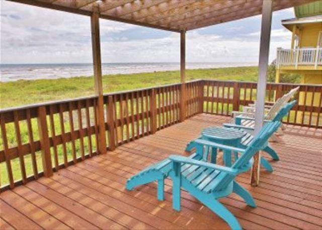 """""""Beau Soleil"""" A beachfront home for families who want to enjoy the sand! - Image 1 - Galveston - rentals"""