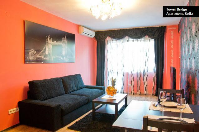 Tower Bridge - Living Room - Great 1-bedroom Apartment in Sofia (sleeps 3) - Sofia - rentals